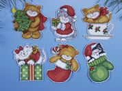 Design Works Plastic Canvas Kit Kittens Ornaments