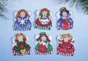 Design Works Plastic Canvas Kit Angels Ornaments