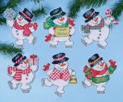 Design Works Plastic Canvas Kit Think Snow Ornaments
