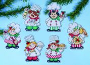 Design Works Plastic Canvas Stitch Kit Cooking Up Christmas Ornaments