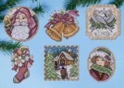 Design Works Plastic Canvas Kit Victorian Christmas Ornaments