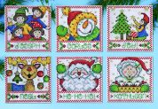Design Works Plastic Canvas Stitch Kit Christmas Tags Ornaments