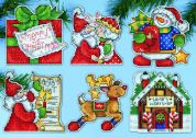 Design Works Plastic Canvas Stitch Kit Santa's Workshop Ornaments