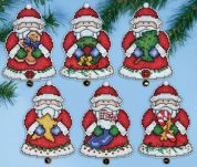 Design Works Plastic Canvas Kit Santas Gifts Ornaments