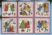 Design Works Counted Cross Stitch Kit Decorating Angels CCS Ornaments