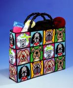 Design Works Plastic Canvas Kit Dog Plastic Canvas Tote