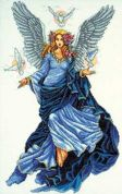 Design Works Counted Cross Stitch Kit Celestial Angel