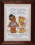 Design Works Counted Cross Stitch Kit Two Hearts Wedding Sampler
