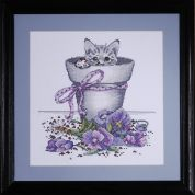 Design Works Counted Cross Stitch Kit Flower Pot Kitty
