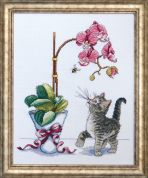 Design Works Counted Cross Stitch Kit Orchid Kitty