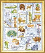 Design Works Counted Cross Stitch Kit Animal ABC