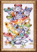 Design Works Counted Cross Stitch Kit Frog Pile