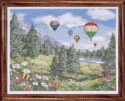 Design Works Counted Cross Stitch Kit Balloon Sky