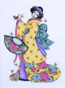 Design Works Counted Cross Stitch Kit Golden Geisha