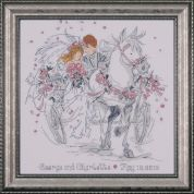 Design Works Counted Cross Stitch Kit Wedding Carriage