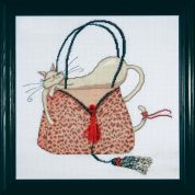 Design Works Counted Cross Stitch Kit Leopard Purse