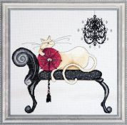 Design Works Counted Cross Stitch Kit Chandelier Cat