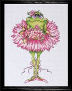 Design Works Counted Cross Stitch Kit Frog Bouquet