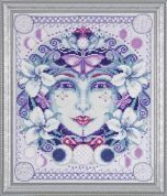 Design Works Counted Cross Stitch Kit Moon