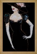 Design Works Counted Cross Stitch Kit Lady in Black