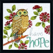 Design Works Counted Cross Stitch Kit Hope Owl