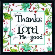 Design Works Counted Cross Stitch Kit Give Thanks