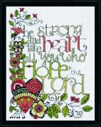 Design Works Counted Cross Stitch Kit Be Strong