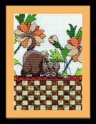 Design Works Counted Cross Stitch Kit Brown Checkered Cat
