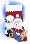 Design Works Applique Felt Stitching Kit Santa's Family Felt Stocking
