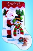 Design Works Applique Felt Stitching Kit Winter Wonderland Felt Stocking