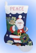 Design Works Applique Felt Stitching Kit Santa's Gifts Felt Stocking