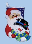 Design Works Applique Felt Stitching Kit Winter Pals Felt Stocking