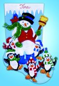 Design Works Embroidery Kit Penguin Party Felt Stocking