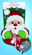 Design Works Embroidery Kit Santa's Present Felt Stocking