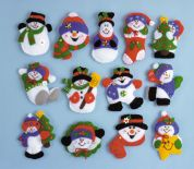 Design Works Applique Felt Stitching Kit Lots of Fun Ornament Set