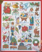 Design Works Counted Cross Stitch Kit Christmas ABC Sampler
