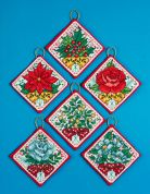 Design Works Counted Cross Stitch Kit Christmas Flowers Ornaments