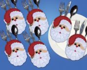 Design Works Applique Felt Stitching Kit Santa Faces Pocket Set