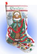 Design Works Counted Cross Stitch Kit Christmas Angel Stocking