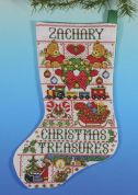 Design Works Counted Cross Stitch Kit Christmas Treasures Stocking