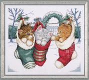 Design Works Counted Cross Stitch Kit Cozy Kittens