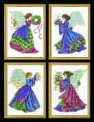 Design Works Counted Cross Stitch Kit 4 Christmas Angels