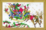 Design Works Counted Cross Stitch Kit Santas Sleigh Picture Kit