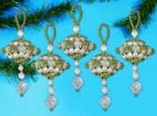 Design Works Christmas Decorations Beaded Craft Kit Dangler Ornaments