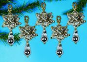 Design Works Christmas Decorations Beaded Craft Kit Metallic Drop Ornaments