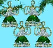 Design Works Christmas Decorations Beaded Craft Kit Angel Ornaments Green