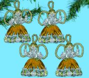 Design Works Christmas Decorations Beaded Craft Kit Angel Ornaments Gold