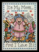 Design Works Counted Cross Stitch Kit My Mess