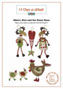 14 Days A Week Easy Sewing Pattern Albert, Elsa & The Xmas Hens