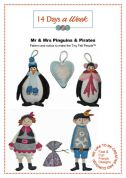 14 Days A Week Easy Sewing Pattern Mr & Mrs Penguins & The Pirates
